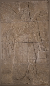 Assyrian Relief with Winged Genius, Walters Art Museum, Wikimedia