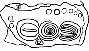 Kerbstone 5 from Knowth, Ireland