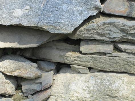 Exterior stone work.