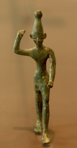 Baal, a Statue from Ugarit. 14th to 12th BC. Louvre, Wikipedia,