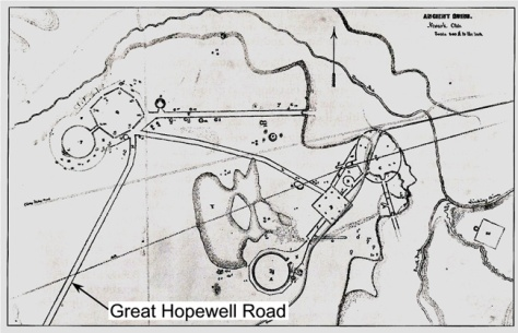 Burks drawing of Newark Earthworks