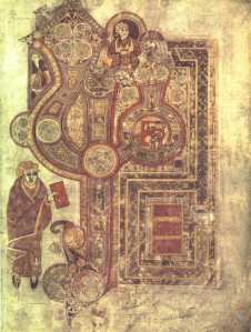 Book of Kells, Incipit to the Gospel of Matthew. PD. Wikipedia.
