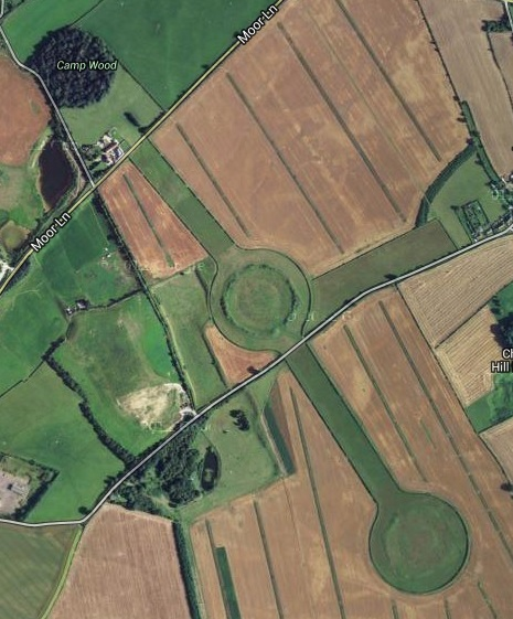 Thornborough Henge in England. Image by