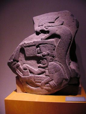 La Venta, Mexico, Olmec Monument 19, Photo by Audrey and George Delange, Wikimedia