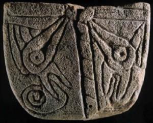 Ramey Peet Tablet found at Cahokia Mounds, Illinois